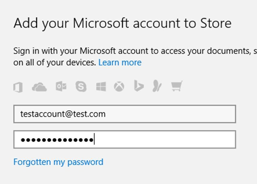 Block Microsoft Account in MS Store Windows 10 (1511 tested